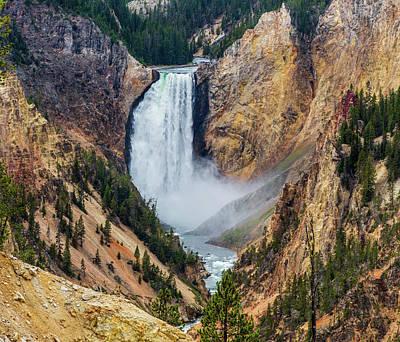 Photograph - Yellowstone River At Artist Point by David Hintz