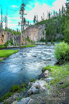 Rainy Day - Yellowstone River by Micah May