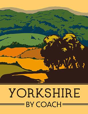 Digital Art - Yorkshire By Coach by David Greenaway