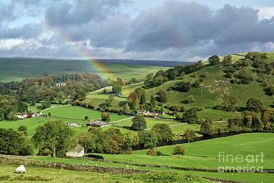 Abstract Stripe Patterns - Yorkshire Dales rainbow by David Birchall