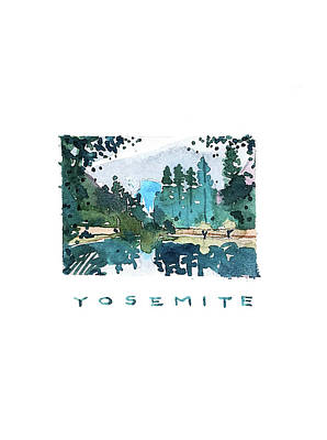 Longhorn Paintings - Yosemite Design by Luisa Millicent