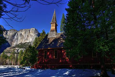 Photograph - Yosemite Falls and Valley Chapel  by Bipul Haldar