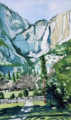 Royalty-Free and Rights-Managed Images - Yosemite Falls by Luisa Millicent