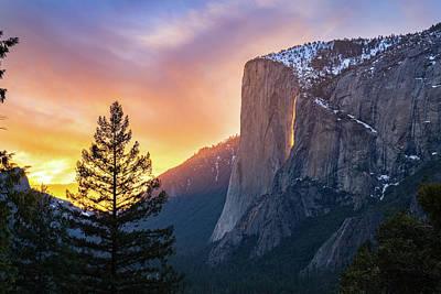 Photograph - Yosemite Firefall Sunset by James Udall