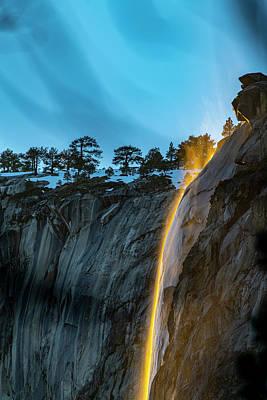 Photograph - Yosemite Firefalls 2021 - Horsetail Falls by Bipul Haldar