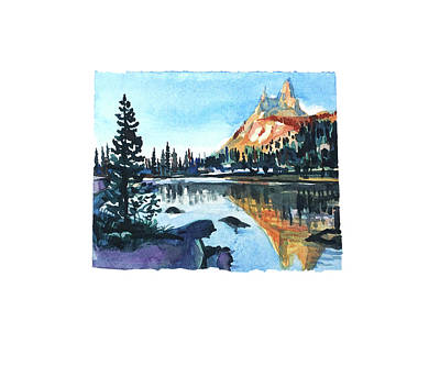 Target Threshold Watercolor - Yosemite by Luisa Millicent