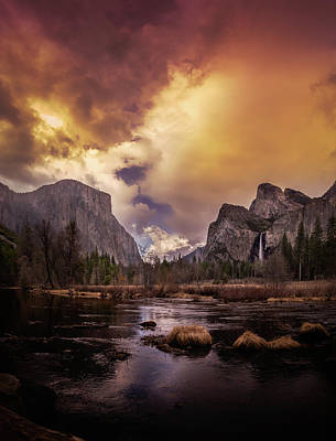 Lucille Ball Royalty Free Images - Yosemite Valley in the Spring Royalty-Free Image by Robert Hayton