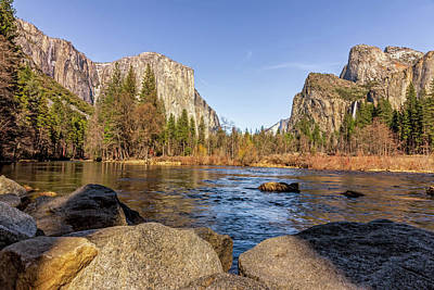 State Word Art - Yosemite Valley View by Francis Sullivan