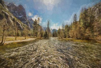 Spot Of Tea Royalty Free Images - Yosemites Merced River Royalty-Free Image by Francis Sullivan