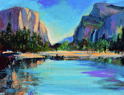 Royalty-Free and Rights-Managed Images - Yosemite Valley View by Elise Palmigiani