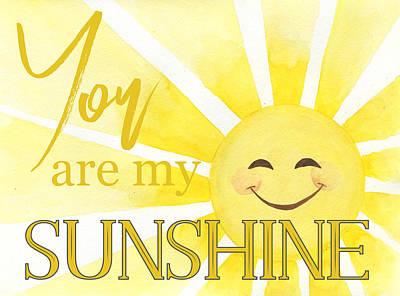 Thomas Kinkade Rights Managed Images - You are my Sunshine Design Royalty-Free Image by Taphath Foose