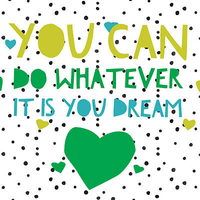 Studio Grafika Vintage Posters - You can Do and Dream by Brandi Fitzgerald