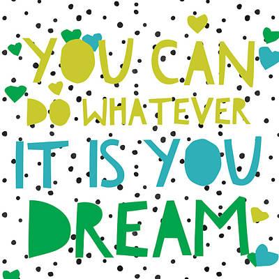 Studio Grafika Vintage Posters - You Can - Dream by Brandi Fitzgerald
