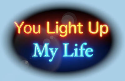 Digital Art - You Light Up My Life by Clive Littin