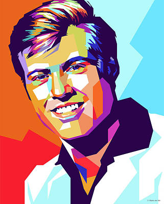 Royalty-Free and Rights-Managed Images - Young Robert Redford  by Stars on Art