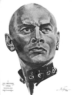 Drawings Royalty Free Images - Yul Brynner by Volpe Royalty-Free Image by Stars on Art