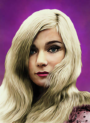 Royalty-Free and Rights-Managed Images - Yvette Mimieux illustration by Stars on Art