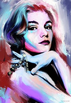 Royalty-Free and Rights-Managed Images - Yvette Mimieux by Stars on Art