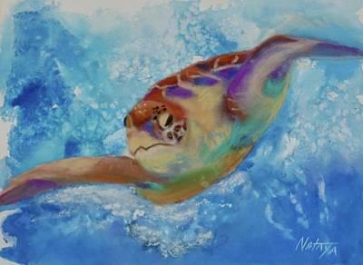 Mixed Media Royalty Free Images - Zealous Swimmer Royalty-Free Image by Nataya Crow