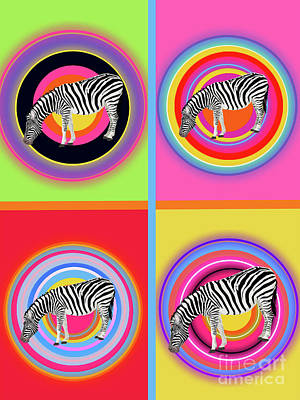 Animals Digital Art - Zebra by Galaxy Epopteia