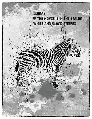Up Up And Away - Zebra by Maria Prokopeva
