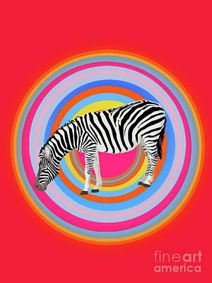 Animals Digital Art - Zebra Totem 1.0 by Galaxy Epopteia
