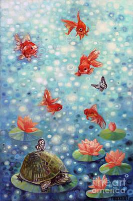 Painting - Zen Friend by Manami Lingerfelt
