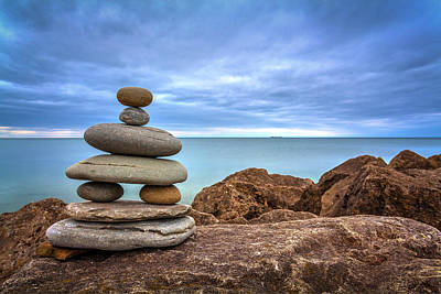 Rights Managed Images - Zen Rocks 1 Royalty-Free Image by Murray Pellowe