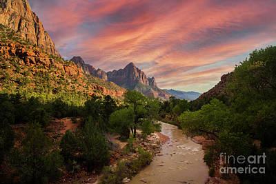 Lucille Ball - Zion National Park Vista by Diane Diederich