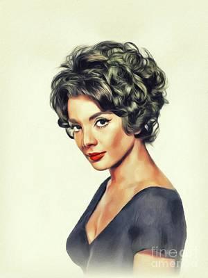 Painting - Ziva Rodann, Vintage Actress by John Springfield