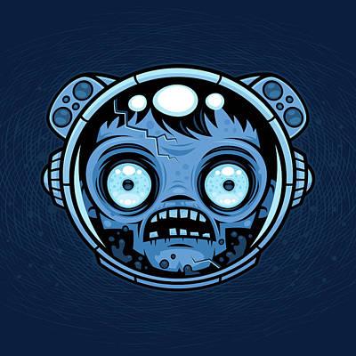 Digital Art - Zombie Astronaut by John Schwegel