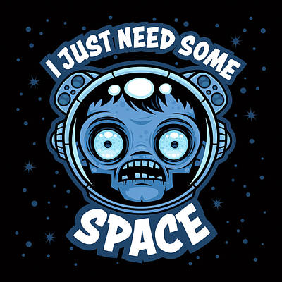 Digital Art - Zombie Astronaut Needs Some Space by John Schwegel