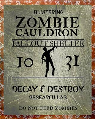 Scifi Portrait Collection - Zombie Cauldron by Brandi Fitzgerald