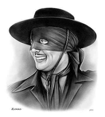 Drawings Rights Managed Images - Zorro Royalty-Free Image by Greg Joens