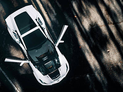 The Beach House - Zr1 Corvette White Exterior by Lourry Legarde