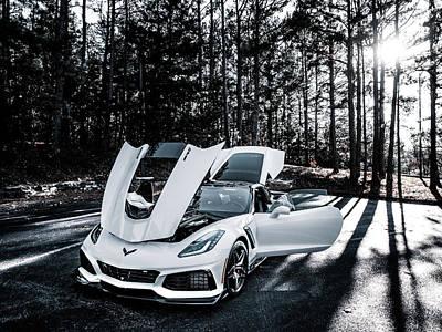 The Beach House - Zr1 Corvette White by Lourry Legarde