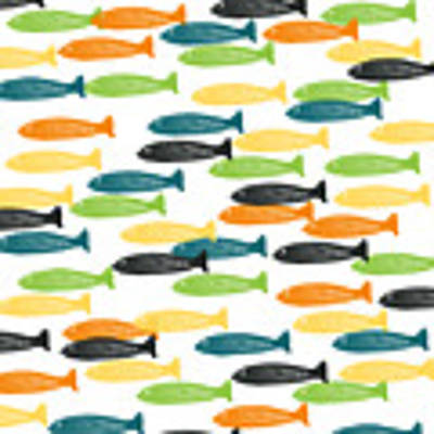 Colorful Fish  Art Print by Linda Woods