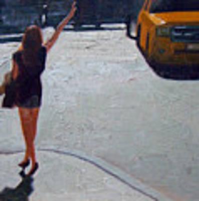 How To Hail A Cab Art Print by Tate Hamilton