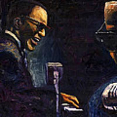 Jazz Ray Charles Art Print