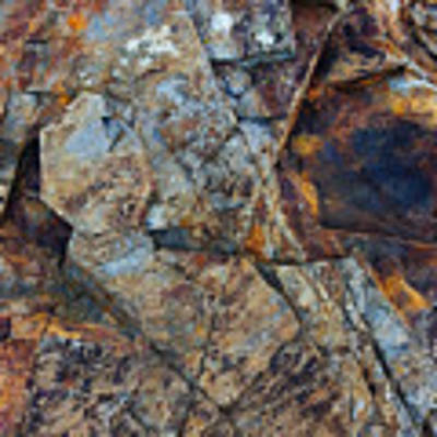 Rock Geometry Art Print by Julian Perry