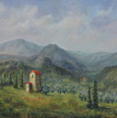 Tuscany Italy Olive Groves Art Print by Katalin Luczay