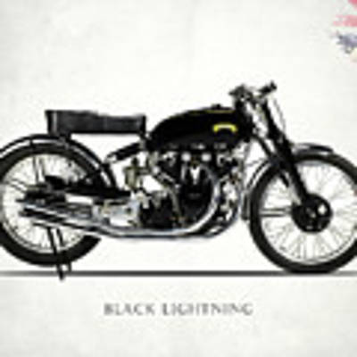 Vincent Black Lightning Art Print by Mark Rogan