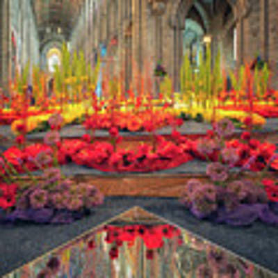 Ely Cathedral Flower Festival Art Print by James Billings