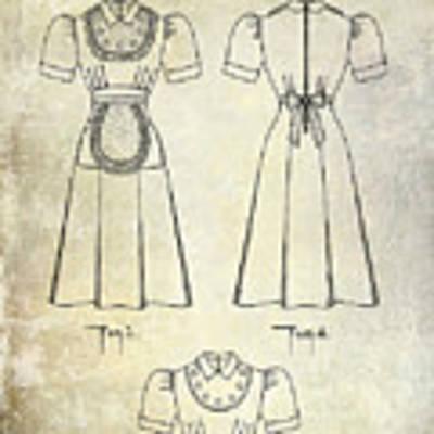 1940 Waitress Uniform Patent Art Print