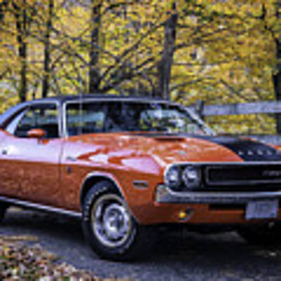 1970 Dodge Challenger Rt  Art Print by Expressive Landscapes Fine Art Photography by Thom