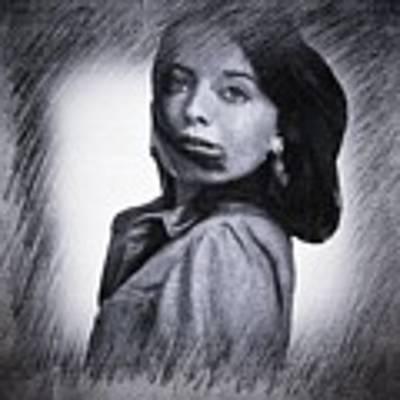 Selfportrait  Art Print by Colette V Hera Guggenheim