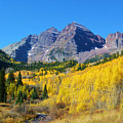 The Maroon Bells Art Print by Kate Avery