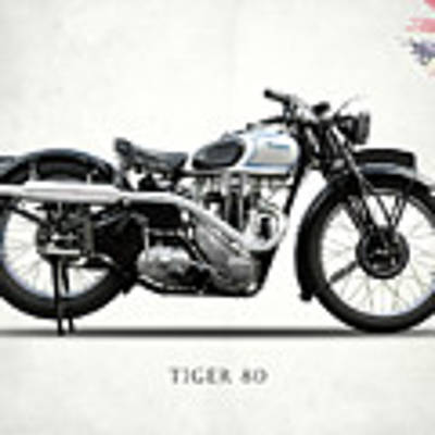 Triumph Tiger 80 1937 Art Print by Mark Rogan