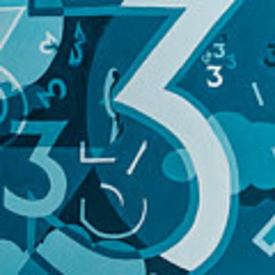 3 In Blue Art Print by Break The Silhouette