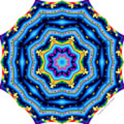 6 To 60 Kaleidoscope Art Print by Brian Gryphon